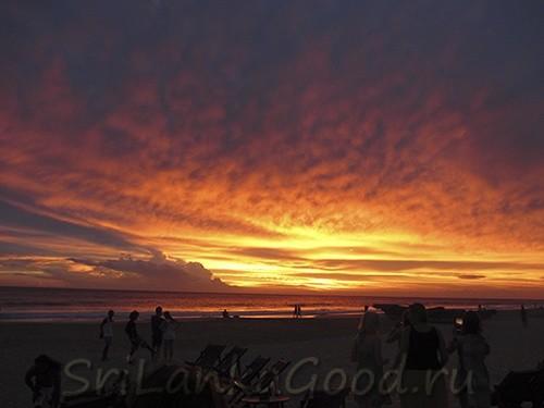 Закат в Шри-Ланке