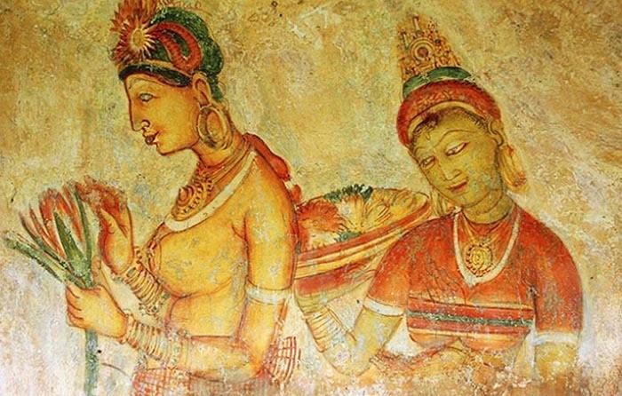 Наскальные фрески Сигирия